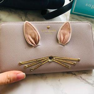 Hop To It Neda Bunny Rabbit Wallet, Grey Leather